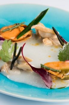 Sopa Thai con Moluscada de Es Ventall por Jose Miguel Bonet