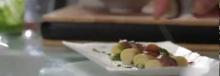 Tortiglioni relleno de queso, anchoa Cuca y pesto por Pepe Solla - 2013